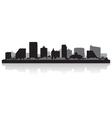 Atlantic city usa skyline silhouette vector