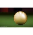 Realistic billiard ball vector