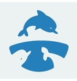 Symbol dolphins vector