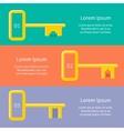 Golden keys from car house apartment web banner vector