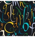 Seamless pattern with hand drawn alphabet vector