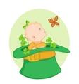 Baby in the irish hat vector
