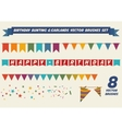 Birthday garlands brushes vector