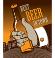 Best beer in town vector
