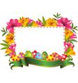 Easter border frame vector