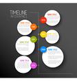 Infographic dark timeline report template vector