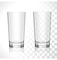 Empty glasses set vector