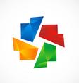 Circle shape color abstract logo vector