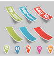 Sticker tags vector