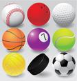 Sport balls eps 8 vector