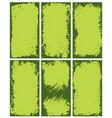 Abstract green borders vector