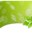 Green eco background with leaves vector