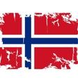 Norwegian grunge flag vector