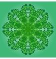 Filigree pattern on green vector