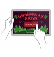 Christmas sale on touchpad screen vector