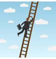 Climbing ladder vector