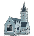 Gothic building vector