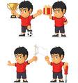Soccer boy customizable mascot 3 vector