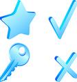 Simple icon set vector