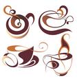 Coffeetea elements for design vector