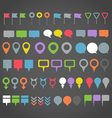 Navigation pins collection vector