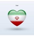 Love iran symbol heart flag icon vector