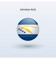 Johnston atoll round flag vector