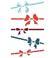 Silhouettes bows vector