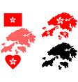 Hong kong map vector