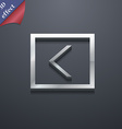 Arrow left way out icon symbol 3d style trendy vector