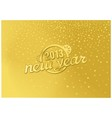 Gold new year in a retro style vector