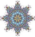 Round ornamental pattern vector