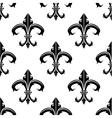 Classical french fleur-de-lis background pattern vector