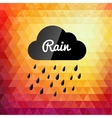 Retro styled autumn rain cloud design card vector