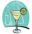 Cocktail margarita vector