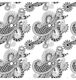 Digital drawing black and white ornate seamless vector