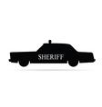 Sheriff car vector