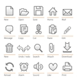 Universal software icon set big size vector