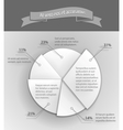 3d business pie chart vector