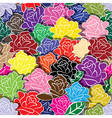Seamless flower background with colorful rose vector