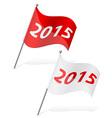 New year flag vector