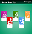 Nature sales tags vector