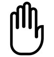 Hand outline icon vector