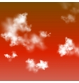 Red sky background vector