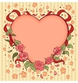 Heart valentines day retro background vector