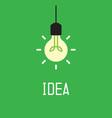 Bulb with idea concept vector