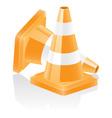 Icon traffic cone vector