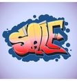 Graffiti style sale inscription urban art vector