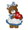 Female teddy bear vector
