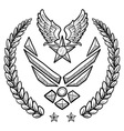 Doodle us military wreath airforce modern vector